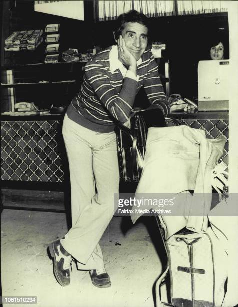 Italian film star Walter Chiari arrives for a onemonth holiday in AustraliaAlso pictured is a young Italian song writer Tony Renis accompanying...