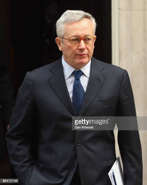 Italian Finance Minister Giulio Tremonti leaves Downing Street after meeting to discuss financing health systems with British Prime Minister Gordon...