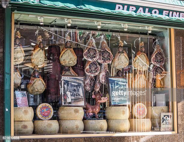 italian fine foods, little italy, new york city, united states - little italy new york foto e immagini stock