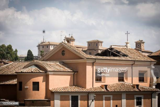 Italian firefighters recover works of art from the sixteenthcentury church of San Giuseppe ai Falegnami in Rome Friday August 31 the day after the...