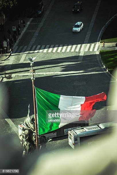 Italian Flag from Vittorio Emanuele Monument