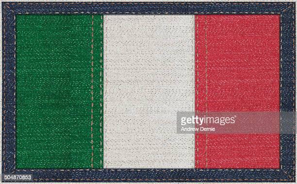Italian flag in denim