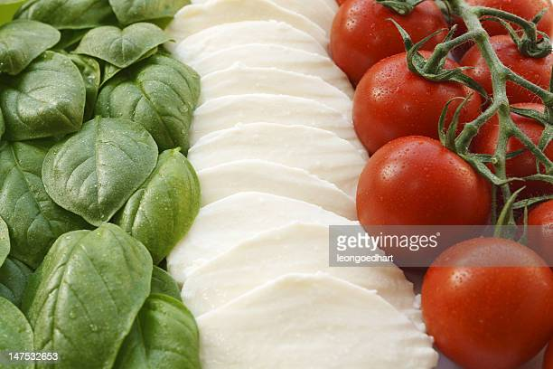 italian flag - tricolor caprese salad - italian food stock pictures, royalty-free photos & images