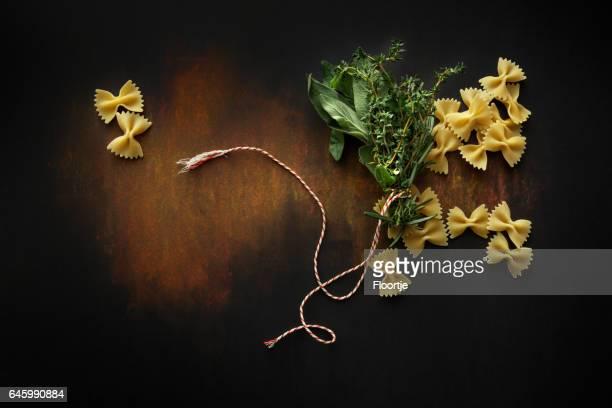 Italian Food: Farfalle and Bouquet Garni Still Life