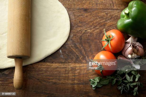 Italian Food: Ingredients for Pizza Still Life