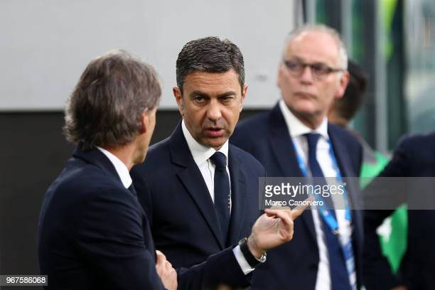 Italian football federation Vice Commissioner Alessandro Costacurta during International Friendly match between Italy and Netherlands The match ends...