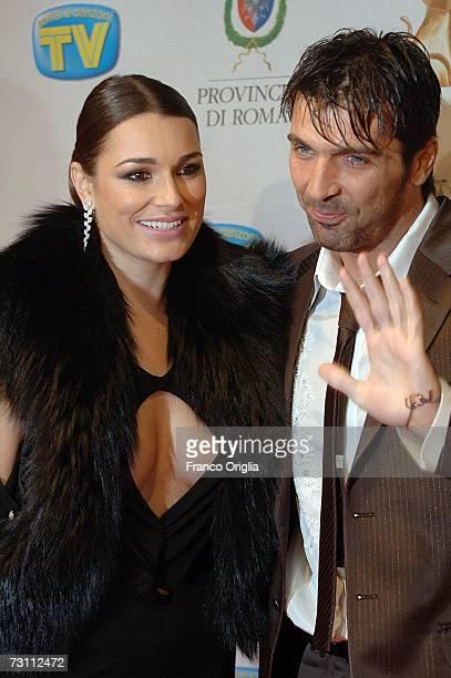 Italian football player Gigi Buffon and top model Alena Seredova attend the Italian TV Awards ''Telegatti'' at the Auditorium Conciliazione on...