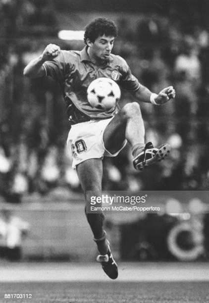 Italian footballer Gianluca Vialli pictured playing in Italy in 1982