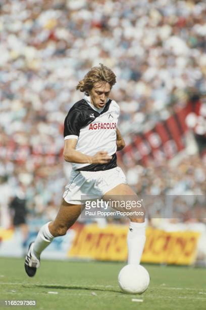 Italian footballer Manuel Gerolin, midfielder with Udinese Calcio, pictured in action for Udinese during a Serie A match in 1984 during the 1984-85...