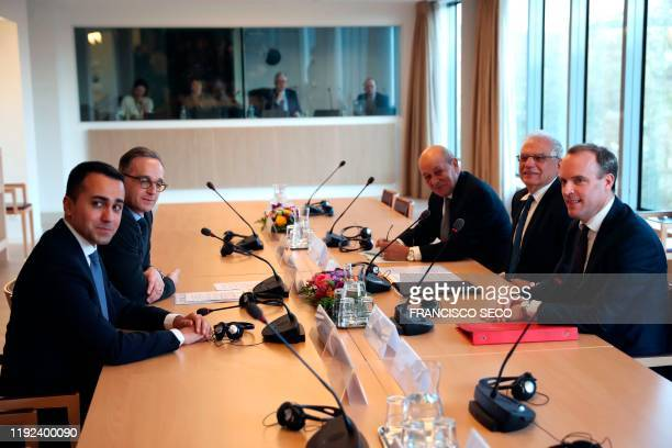 Italian Foreign Affairs Minister Luigi Di Maio German Foreign Affairs Minister Heiko Maas French Foreign Affairs Minister JeanYves Le Drian EU High...