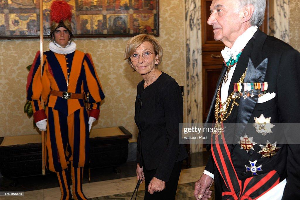Pope Frances Meets President of Italian Republic Giorgio Napolitano : Foto di attualità