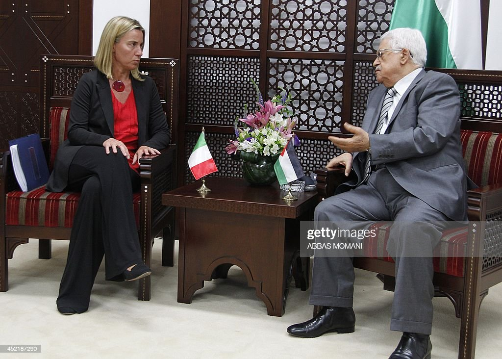 PALESTINIAN-ITALY-CONFLICT-DIPLOMACY : News Photo