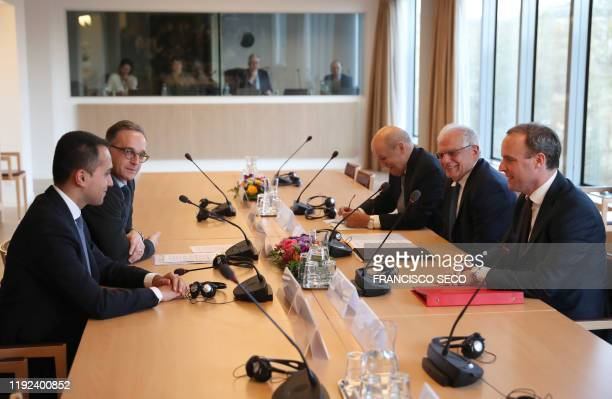 Italian Foreign Minister Luigi Di Maio German Foreign Minister Heiko Maas French Foreign Minister JeanYves Le Drian European Union foreign policy...