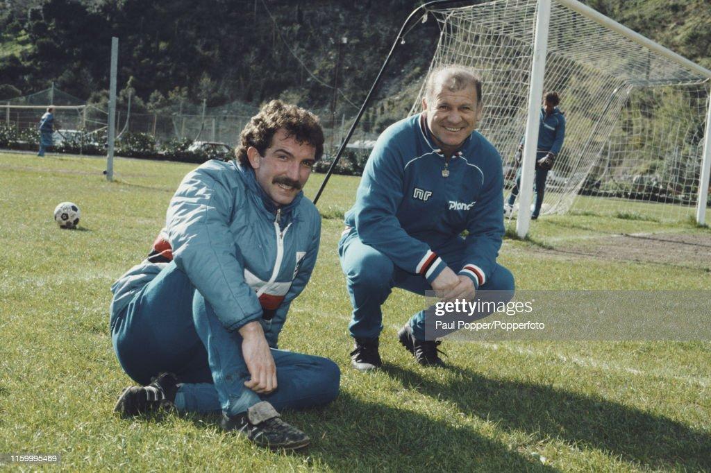Sampdoria Manager Eugenio Bersellini With Graeme Souness : ニュース写真