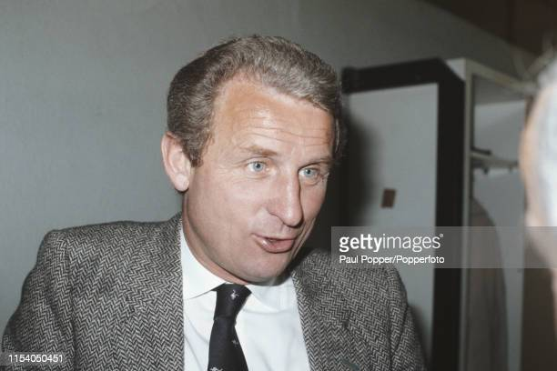 Italian former footballer Giovanni Trapattoni, manager of Juventus, pictured in the dressing room during the 1984-85 European Cup semi final first...