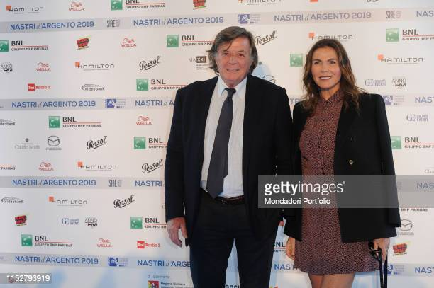 Italian former professional tennis player Adriano Panatta and Anna Bonamigo attend the red carpet of the presentation of the nominations of the 2019...