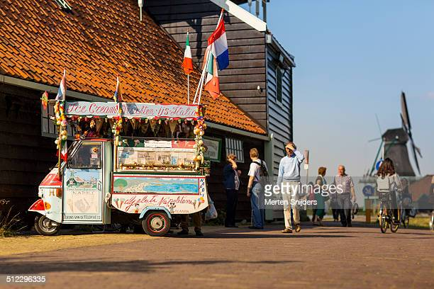 Italian Gelato Icecream car at Kalverringdijk