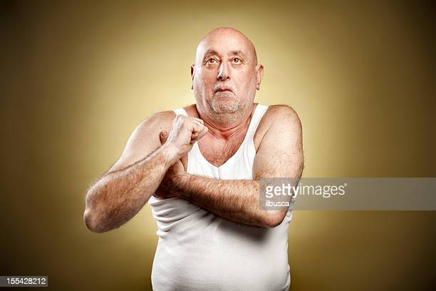 italian gesture series: armpit fart - male armpits stock pictures, royalty-free photos & images