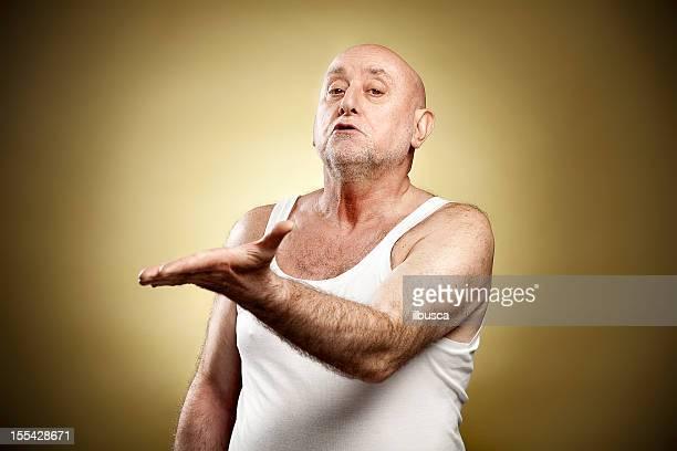 Italian gesture series: 'Look at that idiot!'