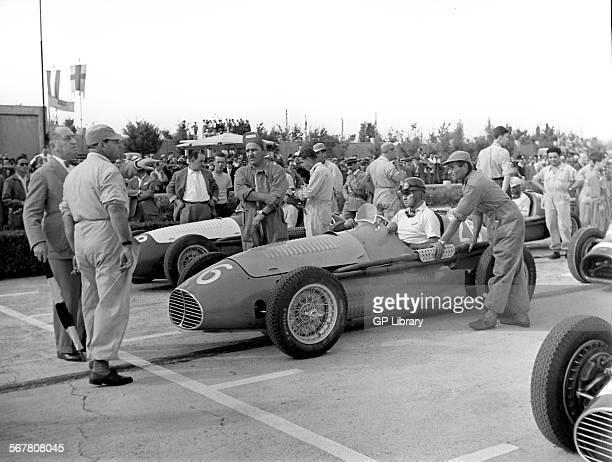 Italian GP at Modena 1953 Marimon Maserait front row