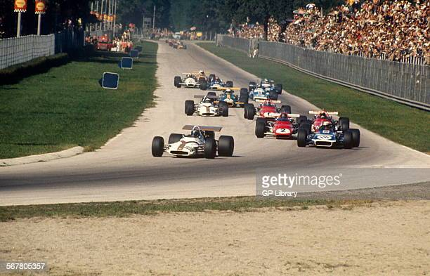 Italian GP Monza 6th September 1970 BRM leads March and Ferraris