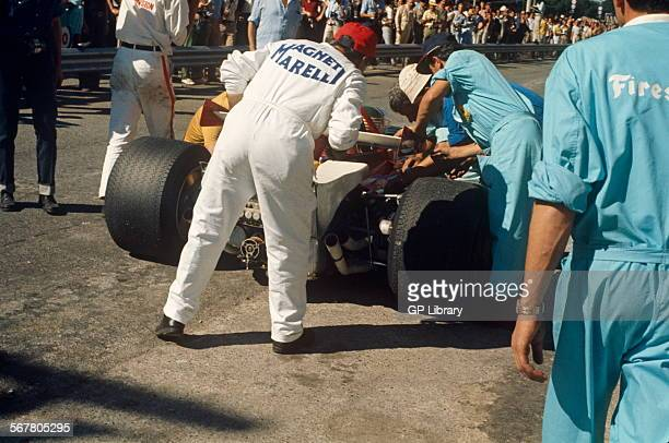 Italian GP Monza 6th September 1970 Ferrari in pits