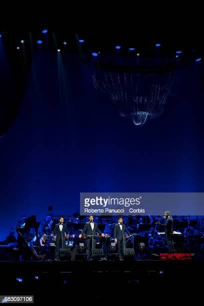 Italian Group Il Volo performs in concert at Palalottomatica Arena on May 13 2017 in Rome Italy