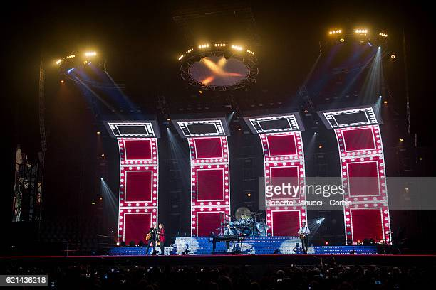 Italian group Pooh performs in concert at Palalottomatica Arena on November 04, 2016 in Rome, Italy.