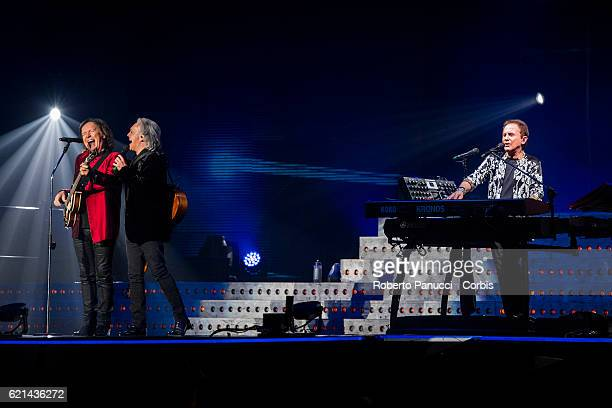 Italian group Pooh performs in concert at Palalottomatica Arena on November 04 2016 in Rome Italy