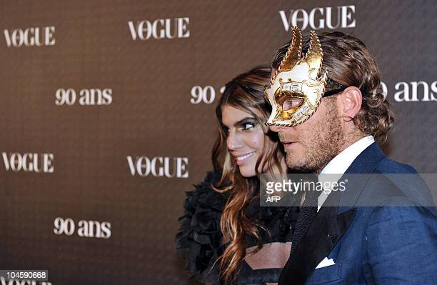 Italian heiress Bianca Brandolini d'Adda and Lapo Elkann pose in Paris on September 30 prior to a party organized to celebrate the 90th birthday of...
