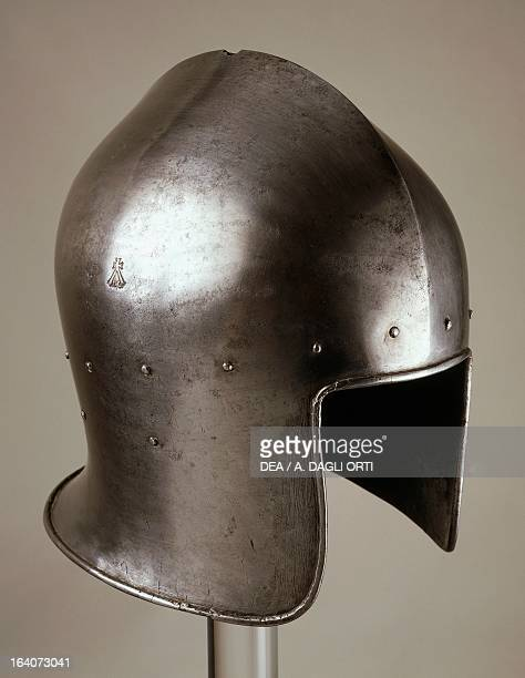 Italian helmet from armour which belonged to Gian Galeazzo D'Arco 14451450 made in Milan by the armourer Tommaso Missaglia Italy 15th century