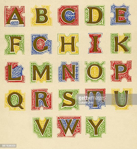 Italian illuminated alphabet Fifteenth century