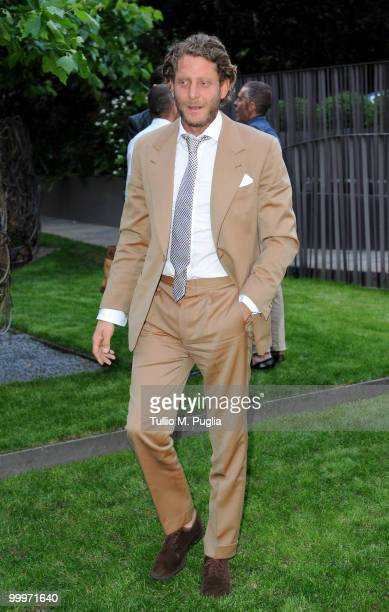 Italian Independent CEO Lapo Elkann attend the cocktail reception for W Magazine's editor-in-chief at the Bulgari Hotel on May 18, 2010 in Milan,...