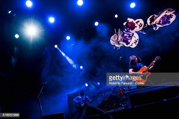 Italian Indie Band Afterhours performs in concert at Rock in Rome Festival on july 19 2016 in Rome Italy