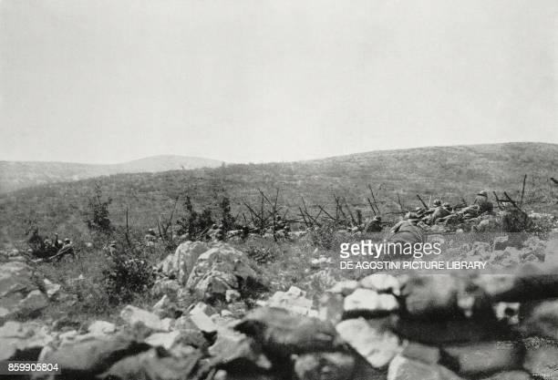 Italian infantry assault on Jamiano Italy World War I from L'Illustrazione Italiana Year XLIV No 22 June 3 1917