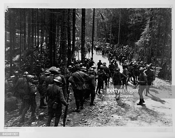 Italian Infantry Marching to Meet Austrian Forces