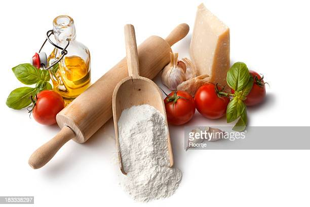 Italian Ingredients: Flour, Tomato, Basil, Garlic, Parmesan and Olive Oil