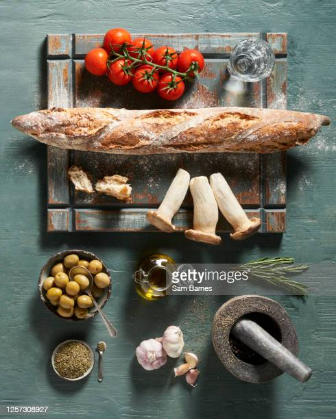 italian ingredients - green olive fruit stock pictures, royalty-free photos & images