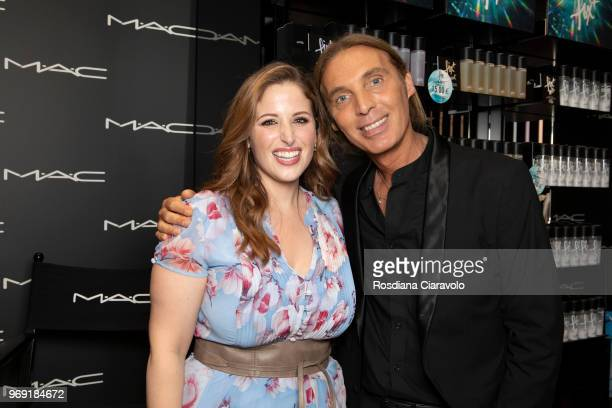 Italian internet personality Clio Zammatteo and Global senior artist MAC cosmetics Michele Magnani attend MAC Cosmetics Fix with Clio Makeup on June...