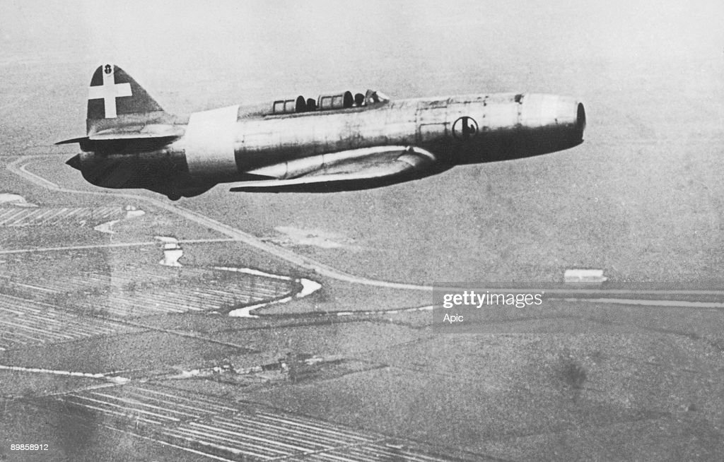 italian jet fighter Caproni-Campini used during ww2 : News Photo