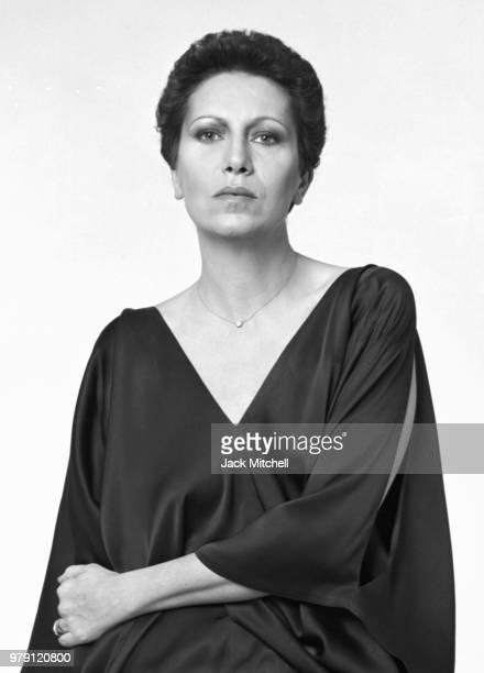 Italian jewelry designer Elsa Peretti photographed in 1977.