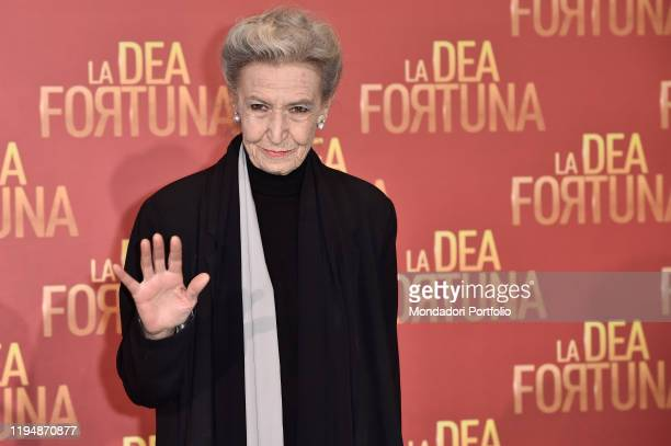 Italian journalist and columnist Barbara Alberti during the photocall for the presentation of the film La Dea Fortuna Rome December 17th 2019