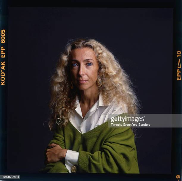 Italian journalist and editorinchief of Vogue Italia from 1988 until 2016 Franca Sozzani is photographed in 1990 in New York City