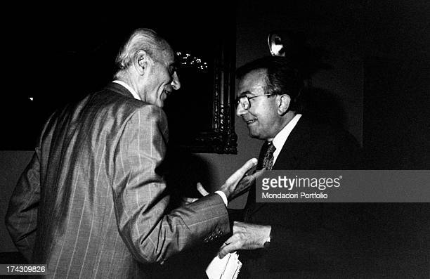 Italian journalist and member of the Parliament Giulio Andreotti and Italian journalist and editor of the newspaper Il Giornale Indro Montanelli...
