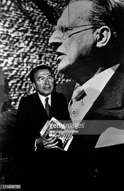 Italian journalist and member of the Parliament Giulio Andreotti attending the National Friendship Day organized by the Christian Democratic Party...