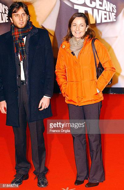 Italian journalist Barbara Palombelli and her son attend the European premiere of Ocean's Twelve the sequel to Ocean's Eleven on December 10 2004 at...