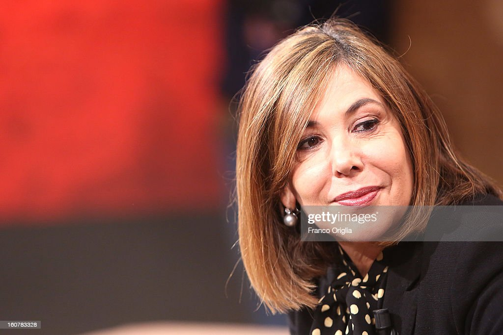 Italian journalist Maria Latella attends 'Ballaro' TV talk show on February 5, 2013 in Rome, Italy. National Elections in Italy are scheduled for February 24.