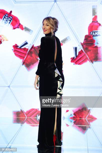 Italian journalist Mia Ceran attends 'The Legend of Red Hand' short movie for Campari Red Diaries Red Carpet Premiere on January 30 2018 in Milan...