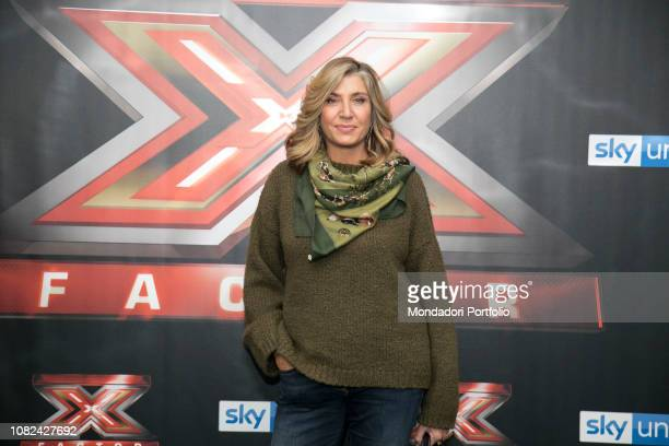 Italian journalist Myrta Merlino photocall of the final night of the talent show XFactor Italy 2018 at the Assago Forum Milan December 13th 2018