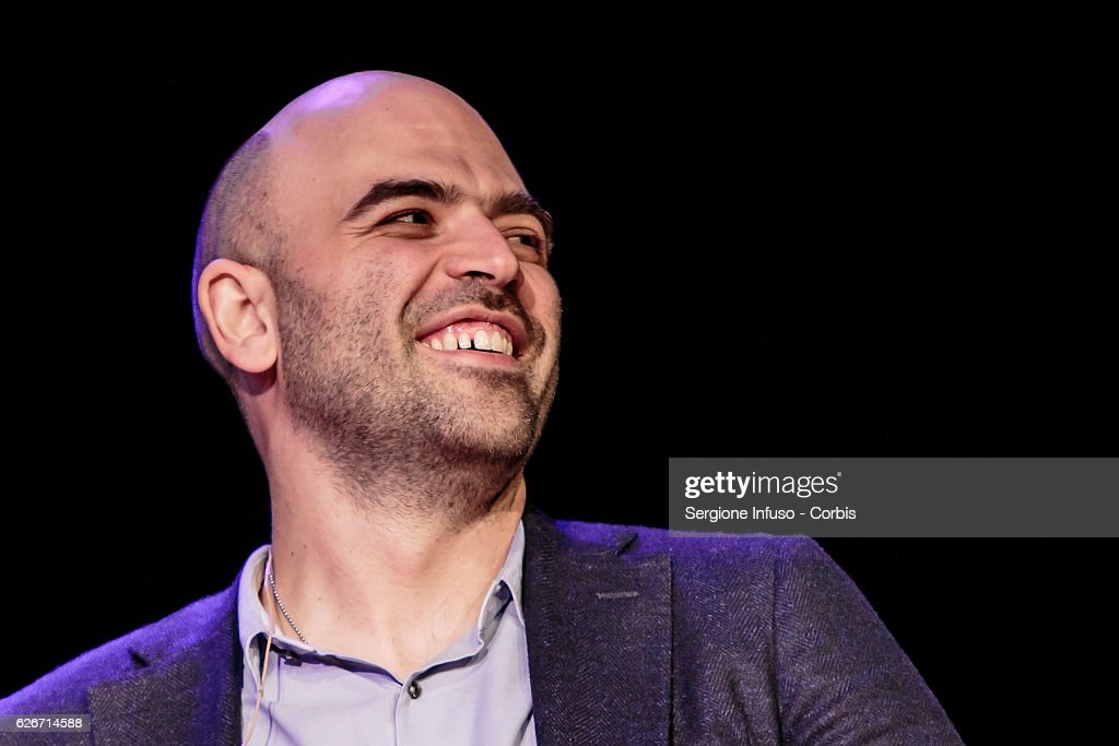 Italian journalist, writer and essayist Roberto Saviano Meets The Audience with the show 'Sottosopra' on November 28, 2016 in Milan, Italy.